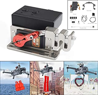 Solovlev UAV airdrop Device, Upgraded Double Release Thrower Servo Controlled Dropper Device, Drone Clip Payload Delivery Drop Transport Device for DJI Mavic 2 Pro/ Zoom Drone Dropping System