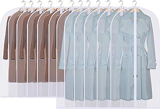 GoMaihe Housses de Vêtements, 12 Pcs Housse pour Costume/Penderie Protection Pliable ▏Sac de Vêtement, Protection Transpar...