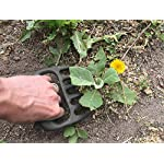 Bear Paws Cultivator Claw - Ergonomic Gardening Tools - Hand Held Garden Tool - Hand Rake - Strong Nylon Weeder - Manual… 10 ERGONOMIC - The Bear Paws Cultivator Claw design allows for natural movement which reduces hand and arm fatigue. Because your fingers are free, picking out rocks and weeds without ever setting it down is a breeze SHARP CLAWS: Great for breaking up soil, weeding and removing unwanted debris in your flower bed or garden DURABLE - Traditional metal hand tools are replaced with our tough and ultra strong nylon. For a durable gardening tool, you can't beat the Cultivator Claw garden tool