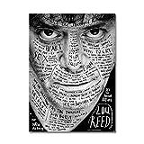 LaMAGLIERIA Hochqualitatives Poster - Lou Reed -