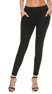 Women's Skinny Leg Work Pull on Slim Stretch Yoga Dress...
