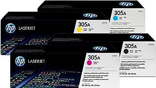 Genuine H-P Original 305A Black, Cyan, Yellow, Magenta Toner Cartridge Set CE410A / CE411A / CE412A / CE413A for HP Laserjet Pro M451/M475