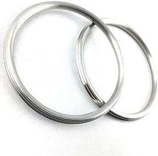 DevDeep (Set of 2) Punjabi/Sikh Steel Kada/Kara/Bracelet Men/Women Internal Dia. 6.5 cm