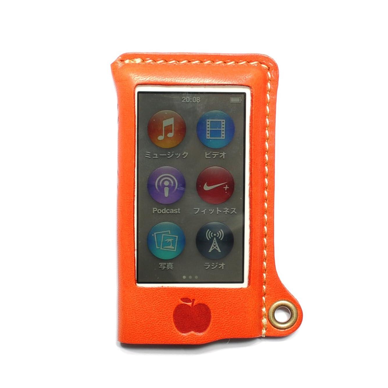 コストマーチャンダイザー浴室[310]iPod nano 7G オイルレザーケース/本革(栃木レザー)【オレンジ】