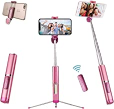 Selfie Stick Tripod Bluetooth, didaINT Mini Extendable Aluminum Selfie Stick with Wireless Remote and Tripod Stand 360 Rot...