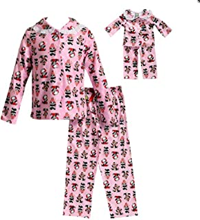 Dollie & Me Girls Button Down Top & Bottoms Pajama Set