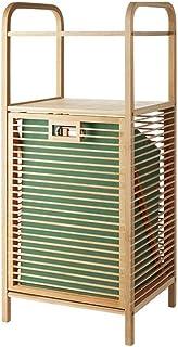 Panier à linge XINYALAMP Bamboo Tilted, avec Plateau Amovible et Doublure, Ménage, vêtements Boîte de Rangement, Sac Snack...