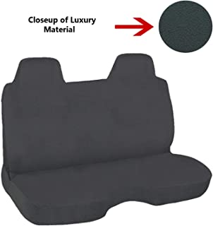 C.P.R. New Mini Truck Bench Seat Cover Stick Shift Universal Fit (Luxury Charcoal)