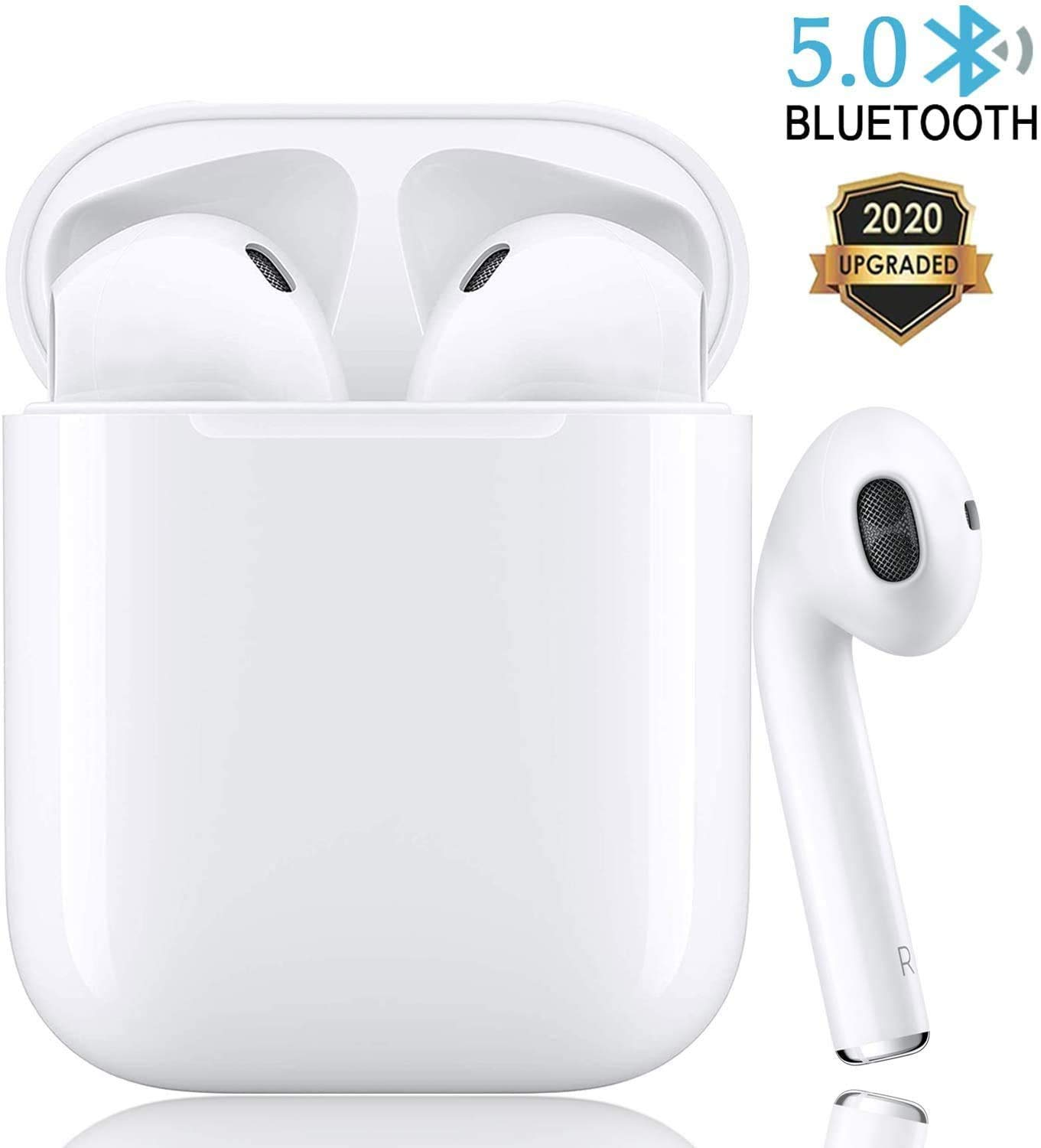 Amazon Com Bluetooth 5 0 Wireless Earbuds Headsets Bluetooth Headphones 24hrs Charging Case 3d Stereo Ipx5 Waterproof Pop Ups Auto Pairing Fast Charging For Earphone Samsung Apple Airpods Pro Airpods Airpod 2 Home Audio Theater