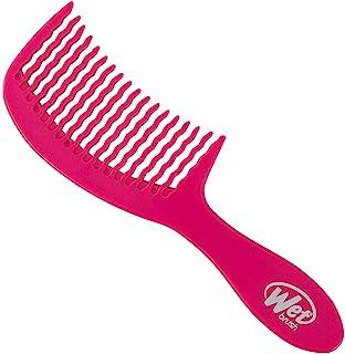 طرح شانه مو Wet Brush Detangler Wave Tooth Comb (صورتی) ، استاندارد