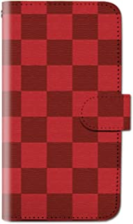 CANCER by CREE 手帳型 ケース FREETEL SAMURAI MIYABI チェック メンズ 格子柄 スマホ カバー dt001-00013-04 (4)ワインレッド FREETEL miyabi(雅):M