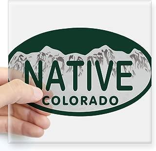 CafePress Native Colo License Plate Square Sticker 3
