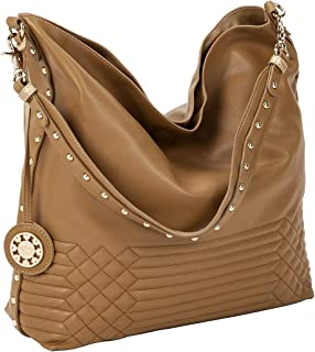 Sydney Love Reversible Hobo with inner pouch in Cafe/Light Gold