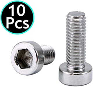 UNIDOPRO 10Pcs M5 Hex Socket Tapping Screw Bolts for Bike Water Bottle Cage Holder Bracket Rack - 304 Stainless Steel