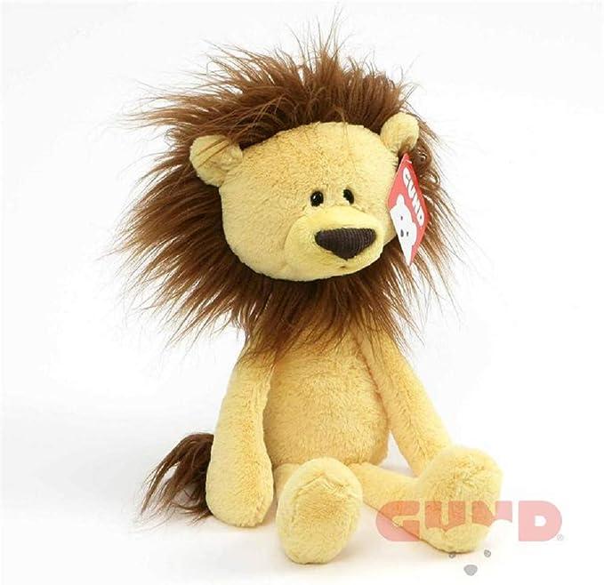 """GUND קיסם שיניים זיין אריה פרווה ממולאת חיות, צהוב, 40.6 ס""""מ"""