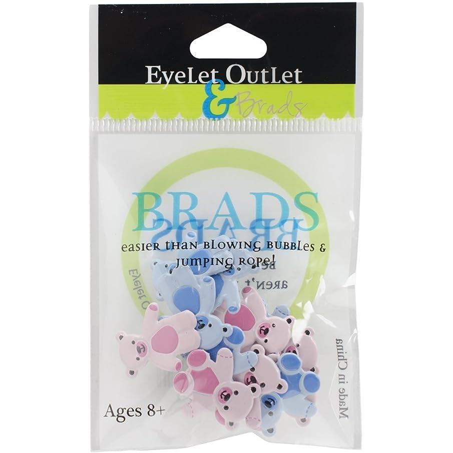 EYELET OUTLET Bear Brads, Pink/Blue