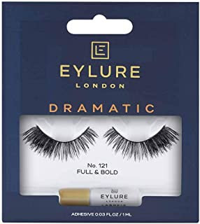 Eylure Definition False Eyelash, Style No. 121, Reusable, Adhesive Included, 1 Pair