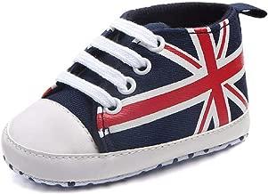 Newborn Canvas Shoes FAPIZI Infant Baby Union Jack Flag Print Canvas Anti-Slip Soft Shoes Sneaker
