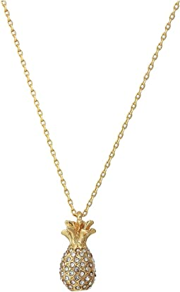 By The Pool Pave Pineapple Mini Pendant Necklace