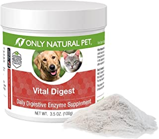 Only Natural Pet Vital Digest Formula for Dogs and Cats with Natural Digestive Enzymes - Holistic All-Natural Formula - 3.5 oz Powder