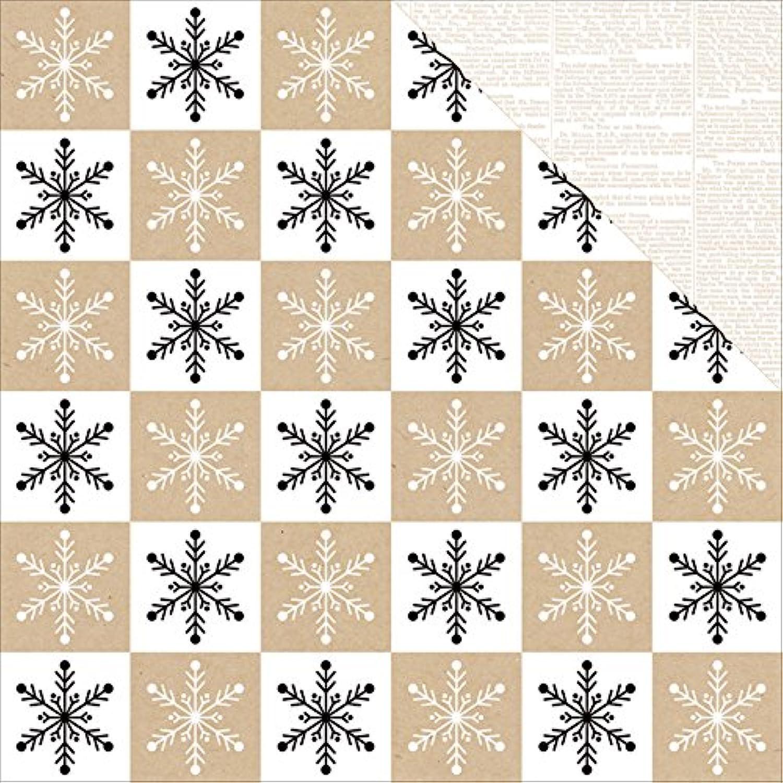 Teresa Collins Winter paperie doppelseitig Karton 12 Zoll x 12 Zoll Schneeflocke B018GL4WWQ     Hohe Qualität