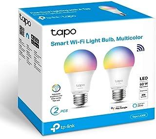 TP-Link Tapo- Bombilla LED Inteligente, Bombilla WiFi, Multicolor, Regulable, E27, 8.7W 806lm, Compatible Alexa, Echo y Go...