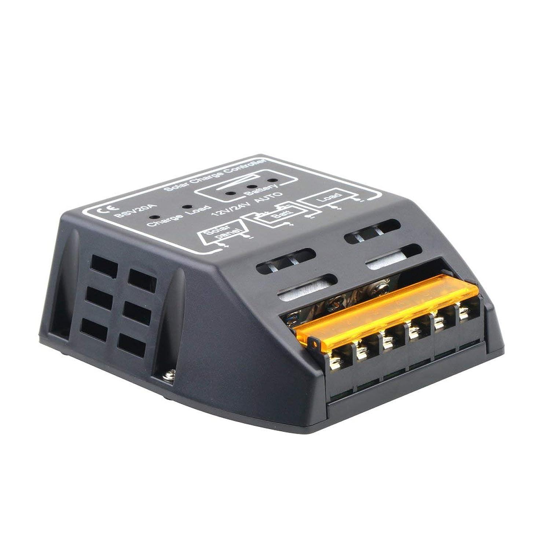 20A 12V / 24Vソーラーパネル充電コントローラバッテリレギュレータ安全保護
