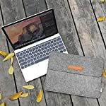 """Inateck 12.3-13 Inch Laptop Sleeve Case Compatible with 2020 MacBook Air, MacBook Pro 13'' 2020/2019/2018/2017/2016… 12 【Fit perfectly only for Apple 12 inch MacBook(Release 2017/2016/2015), and NOT FIT other models】Not designed for 11.6 inch MacBook Air and other laptops. Internal dimensions: 11.2"""" x 7.8"""" - 28.5 x 20 cm; External dimensions: 12.2& x 8.7& - 31 x 22.2 cm High-quality felt outside and soft flannel inside. Practical design and exquisite workmanship; Durable and sustainable."""
