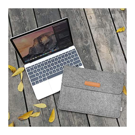 """Inateck 12.3-13 Inch Laptop Sleeve Case Compatible with 2020 MacBook Air, MacBook Pro 13'' 2020/2019/2018/2017/2016… 5 【Fit perfectly only for Apple 12 inch MacBook(Release 2017/2016/2015), and NOT FIT other models】Not designed for 11.6 inch MacBook Air and other laptops. Internal dimensions: 11.2"""" x 7.8"""" - 28.5 x 20 cm; External dimensions: 12.2& x 8.7& - 31 x 22.2 cm High-quality felt outside and soft flannel inside. Practical design and exquisite workmanship; Durable and sustainable."""