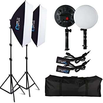 SH Photosoftbox 20X28 Continuous Lighting Kit 50W 5500K Energy Saving Led Bulb for Any Video Portrait and Still Life Shot