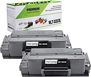 PayForLess Toner Cartridge MLT-D203E 203E Black 2PK Compatible for Samsung ProXpress M3870fw M3320nd M4070fr M3820dw M3370fd M3820nd M4020nd Printers