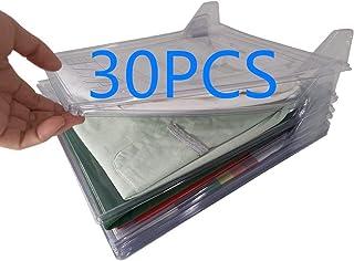 Nifogo Organiseur de placards et Chemise fichier Taille Standard, Dossier et Chemise de t-Shirt de Taille Normale (30Pack)
