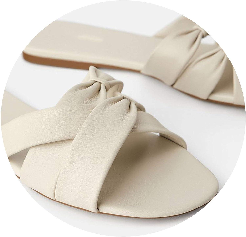 Milk Maniac 2019 Summer Slippers Female shoes Flat Heel Open Toe Flat Sole Outer Wear Lazy Slippers