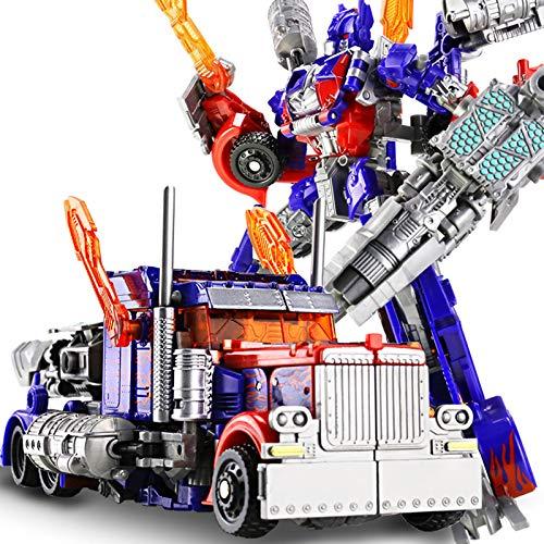 Transformers Robot Peut Changer De Forme Modèle De Voiture Figurines d'action Jouets Anime Optimus Prime Bumblebee,Blue