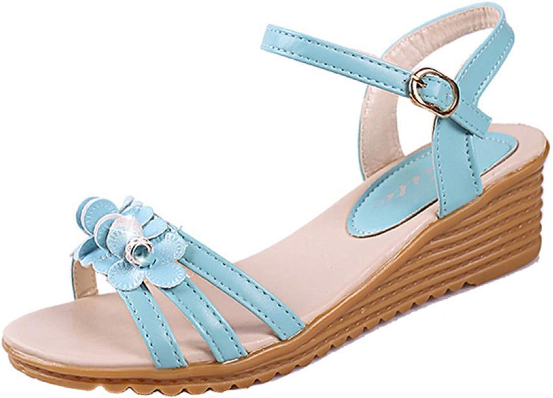 Sandals shoes Sandals silverforma Plana Sandalias women shoes Femme Round Toe Non-Slip Platform High Heels