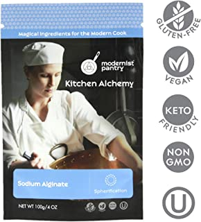 Pure Sodium Alginate (Molecular Gastronomy) ⊘ Non-GMO ☮ Vegan ✡ OU Kosher Certified- 100g/4oz