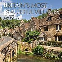 2021年壁掛けカレンダー – 英国で最も美しい村 12 x 12インチ マンスリービュー 16カ月 景色英国テーマ 180枚のリマインダーステッカー付き