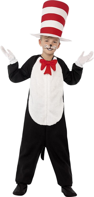Karnevalsbud - Kinder Karneval Kostüm Cat in The Hat , Schwarz, Größe 140-152, 10-12 Jahre B074W9HQVJ Kinder mögen     Genialität