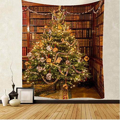 JXWR Navidad Mandala Encaje Hippie Tapiz Colgante de Pared decoración Boho Tapiz de brujería 150x130