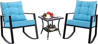 Best wicker rocking chair patio set Reviews