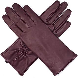 3f56d3ade9f4d Harssidanzar Gants de luxe en cuir italien Nappa pour femmes, doublure en  laine finition vintage