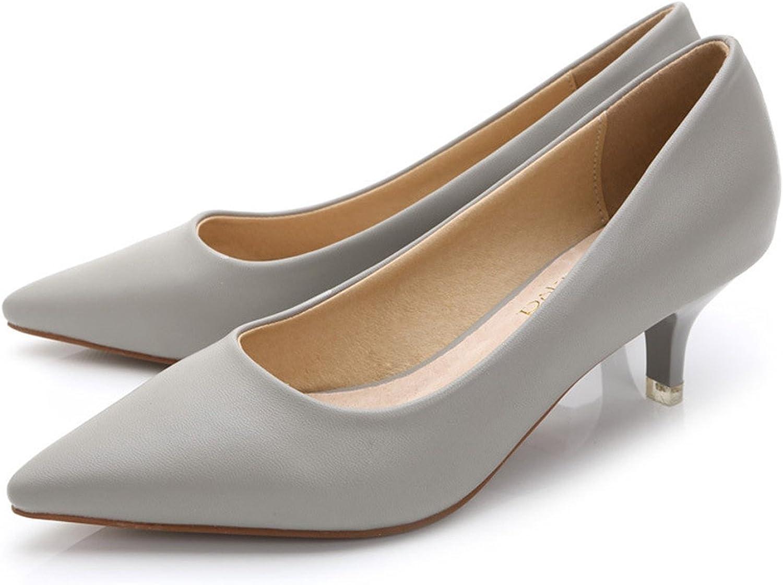 Daniig 34-43 Woman shoes Genuine Leather Inside Low Heels Women Pumps Stiletto Thin Heel Women's Work shoes Pointed Toe Wedding shoes