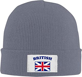 FuR7II@W 100% Acrylic Acid Knitted Cap, British Flag Casual Skull Cap for Mens Womens