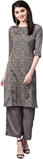 ZIYAA Women's art silk straight Salwar Suit Set