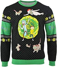 Rick and Morty Ugly Christmas Sweater Portal for Men Women Boys and Girls