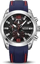 MEGIR Men's Sports Analogue Chronograph Luminous Quartz Wrist Watches with Stylish Silicone Band 2063