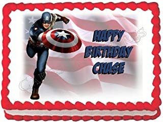 Cakes for Cures Captain America Avengers Edible Party Cake Topper Decoration Cake Image Frosting Sheet