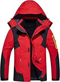 YXP Men's Waterproof Double Layer Winter Coat Windproof Fleece Ski Jacket
