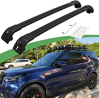 SnailAuto Lockable Adjustable Cross Bars Fits for 2017 2018 2019 Land Rover Discovery 5 L462 Roof Rack Rail Carrier