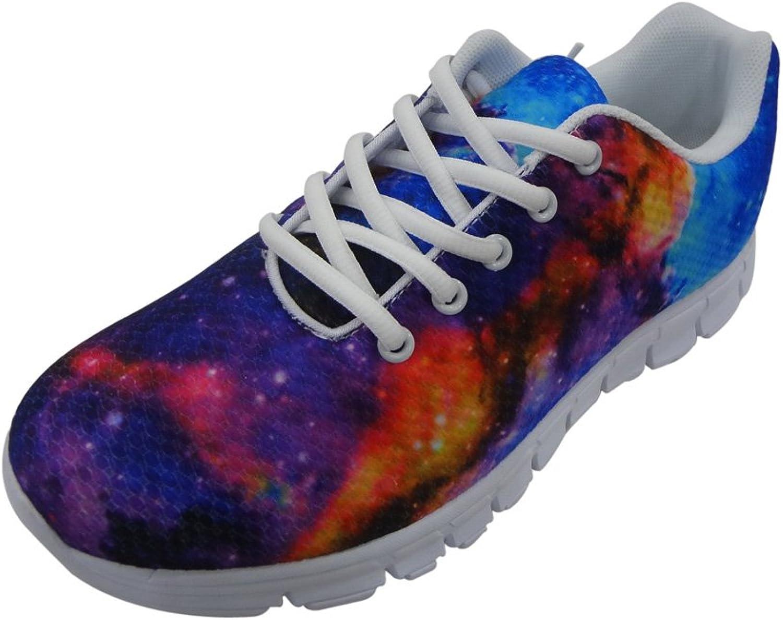 Showudesigns Classic Teen Girls Walking shoes Fashion Galaxy Star Space Sneaker
